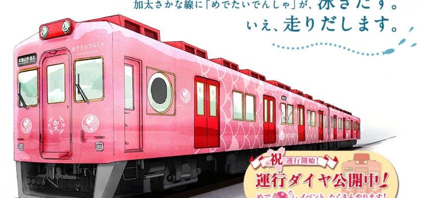 "New train ""Medetai Train"" debut in Wakayama"